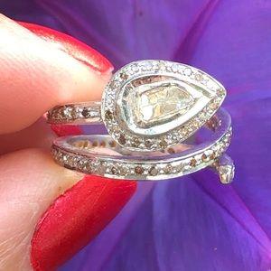 Free People Rose Cut Diamond Snake Ring 5